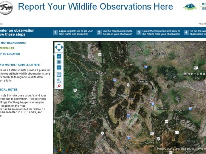Wildlife Observation Mapping Tool