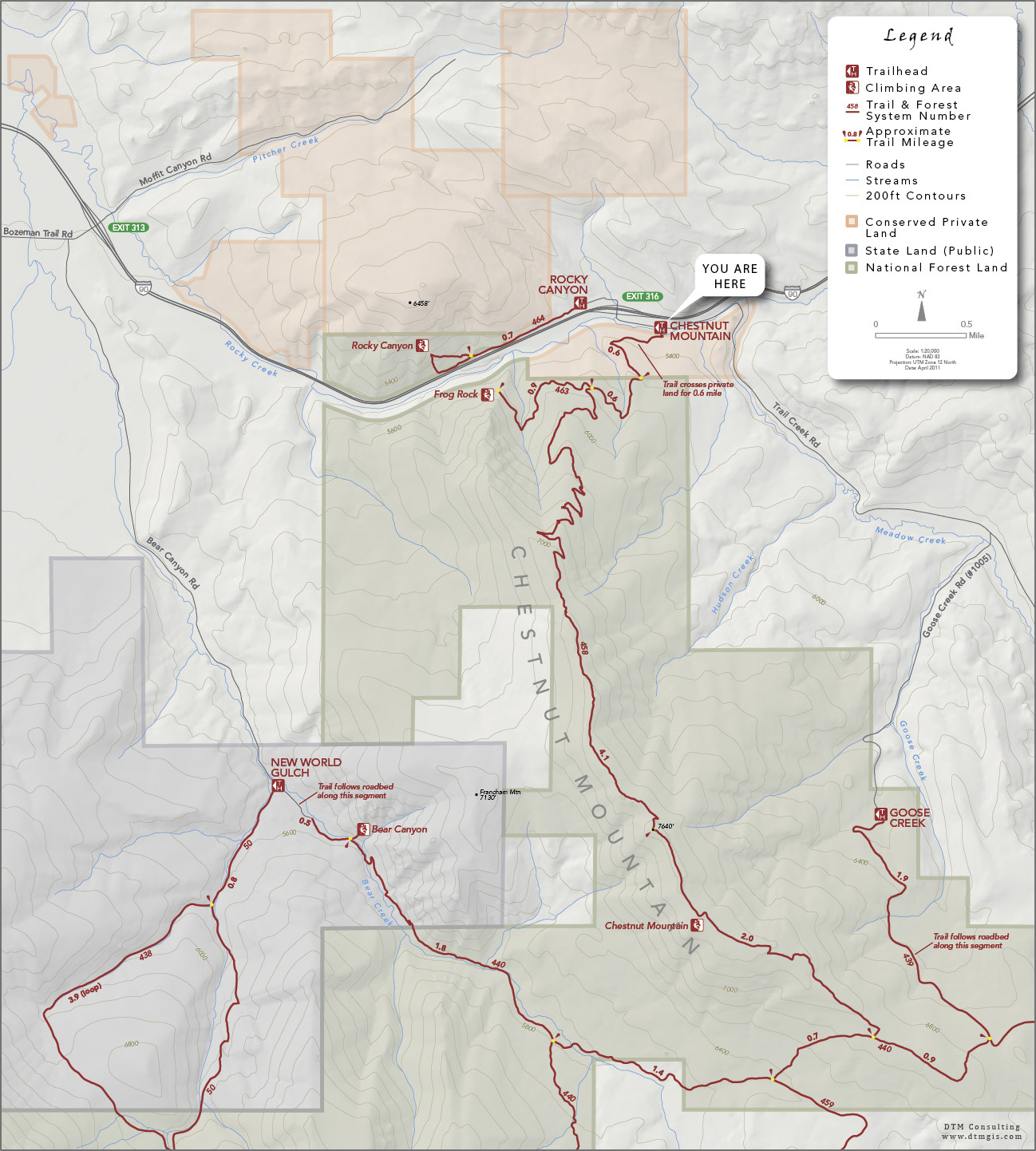 DTM Consulting, Inc. | Chestnut Mountain Trailhead Map